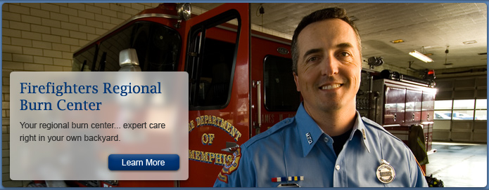 Firefighters Regional Burn Center - Only burn center in a 150-mile radius... expert care right in your own backyard.